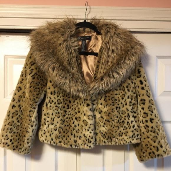 4f6f6b1866b1 INC International Concepts Jackets & Blazers - INC Faux Fur Jacket -  Animal/Cheetah/